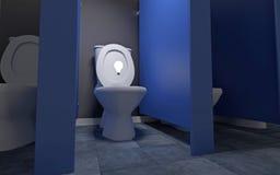 Idea nella toilette Fotografie Stock Libere da Diritti