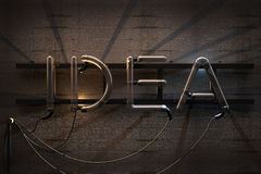 Idea Neon Sign Stock Photography