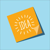 Idea on a note. Idea on a sticky note Royalty Free Stock Image