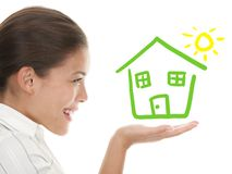 Idea Of Beeing A Happy House Owner Concept Royalty Free Stock Photos