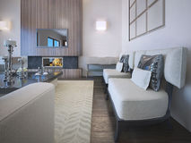 Idea of OntoArt styled living Stock Photos