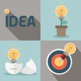Idea originale e concetto creativo della lampadina illustrazione di stock