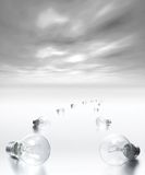 Idea Path. Concept Idea - path of lightbulbs royalty free illustration