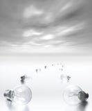 Idea Path. Concept Idea - path of lightbulbs Stock Images
