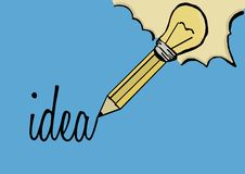 Idea with pencil Royalty Free Stock Image