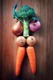 Idea per cura sana che mangia verdura Fotografie Stock Libere da Diritti