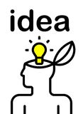 Idea pictogram Stock Photography