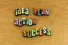 Idea plan action success successful stock photos