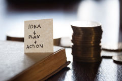 IDEA PLAN ACTION Royalty Free Stock Photography