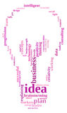 Idea plan info-text graphics Royalty Free Stock Photo