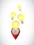 Idea pointer. light bulb concept Stock Photo