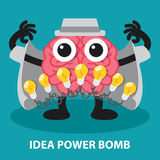 IDEA POWER BOMB Royalty Free Stock Image