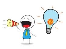 Idea presentation Stock Images
