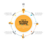 Idea Progress Infographic Stock Images