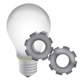 Idea on progress lightbulb concept illustration Royalty Free Stock Photo