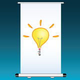 Idea on a projector color vector Royalty Free Stock Images