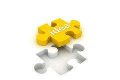 Idea puzzle Stock Photo
