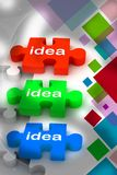 Idea puzzle Royalty Free Stock Image