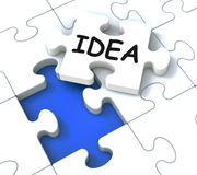 Idea Puzzle Showing Creative Innovations. And Inventions Stock Photography