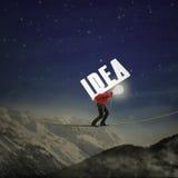 Idea que lleva del hombre de negocios Imagen de archivo libre de regalías