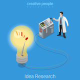 Idea research business startup lab flat isometric medical vector Stock Photos
