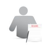 Idea resume worker. illustration design Stock Image