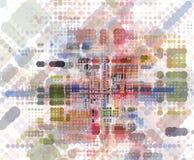 Idea retra del concepto del colorfull abstracto Stock de ilustración