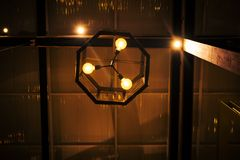 Idea retra para la lámpara ligera con estilo de lujo del vintage Imágenes de archivo libres de regalías