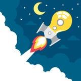 Idea rocket launch Royalty Free Stock Image