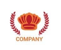 Idea roja 2 del logotipo de la corona Imagenes de archivo