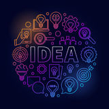 Idea round bright illustration Royalty Free Stock Images