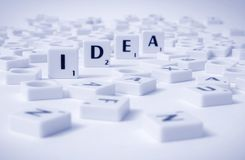 Idea (scrabble) Stock Image