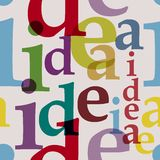 Idea seamless pattern Stock Image