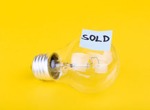 Idea sold Royalty Free Stock Photos