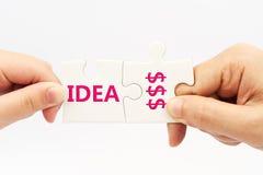 Idea a soldi Immagini Stock