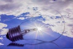 Idea, sole, lampadina Immagine Stock Libera da Diritti