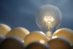 Idea and solution concept. Idea and solution business concepts. Idea symbol, light bulb Stock Photos