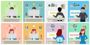 Idea and solution development. stock illustration