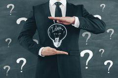 Idea, solution and innovation concept royalty free stock photography