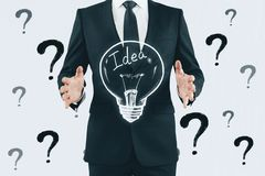 Idea, solution and innovation concept stock photography