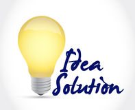 Idea solution light bulb illustration design Stock Images