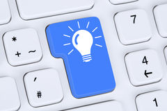 Idea solution for problem success successful concept on computer Stock Images