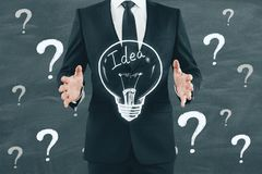 Idea, solution and workshop concept stock images