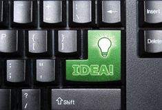 Idea special button. Idea special green key on a keyboard Stock Photo