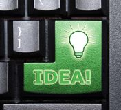 Idea special key. In keyboard Royalty Free Stock Images
