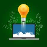 Idea startup technology launching take off Stock Photo