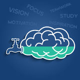 Idea stock faucet of brain. Business wording inspiration Stock Image
