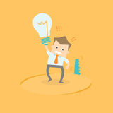 Idea stolen. Business man with idea stolen concept stock illustration