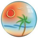 Idea of summer landscape. Illustration of summer landscape, vector vector illustration