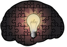 Idea. A symbol of ingenuity and creative thinking in business Stock Photo